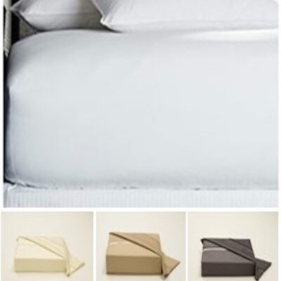 100% Egyptian Cotton 400 Thread Count Fitted Sheet  16 Deep
