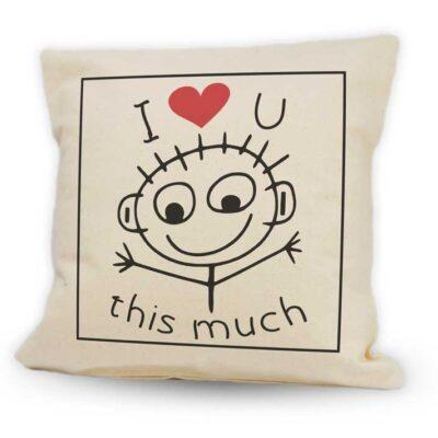 I love you this much Cushion 12x12